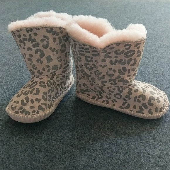 ugg shoes | pink leopard print baby girl boots sz 23 | poshmark